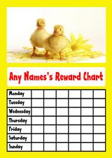 Yellow Ducklings Star Sticker Reward Chart