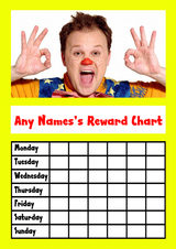 Yellow Mr Tumble Star Sticker Reward Chart