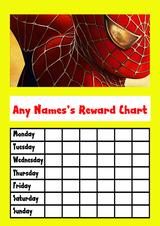 Yellow Spiderman Star Sticker Reward Chart