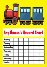 Yellow Train Star Sticker Reward Chart
