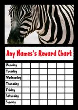 Zebra Star Sticker Reward Chart