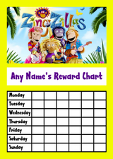 Zingzillas Star Sticker Reward Chart