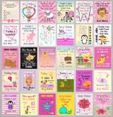 Personalised Girls Baby Milestone Cards