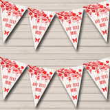 Shabby Chic Vintage Wood Red Wedding Bunting