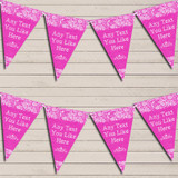 Pretty Lace Hot Bright Pink Wedding Day Married Bunting Garland Party Banner