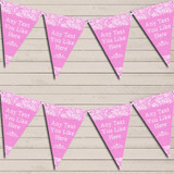 Pretty Lace Baby Pink Wedding Day Married Bunting Garland Party Banner