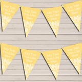 Yellow Burlap & Lace Wedding Day Married Bunting Garland Party Banner