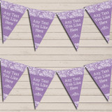 Pretty Lace Purple Wedding Day Married Bunting Garland Party Banner