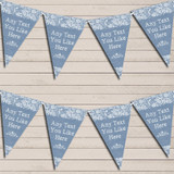 Pretty Lace Blue Wedding Day Married Bunting Garland Party Banner