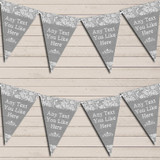 Pretty Lace Grey Wedding Day Married Bunting Garland Party Banner
