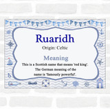 Ruaridh Name Meaning Nautical Certificate