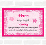 Wren Name Meaning Pink Certificate