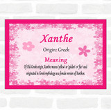 Xanthe Name Meaning Pink Certificate