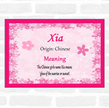 Xia Name Meaning Pink Certificate