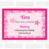 Yara Name Meaning Pink Certificate