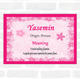 Yasemin Name Meaning Pink Certificate