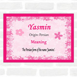 Yasmin Name Meaning Pink Certificate