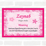 Zaynab Name Meaning Pink Certificate