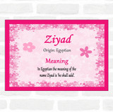 Ziyad Name Meaning Pink Certificate