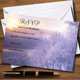 Winter Scene Beautiful RSVP Cards