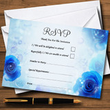 Stunning Blue Flowers Romantic RSVP Cards
