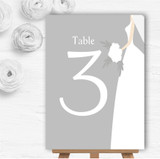 Great White Bride Personalised Wedding Table Number Name Cards