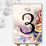 Music Treble Clef Personalised Wedding Table Number Name Cards