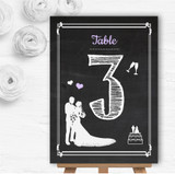 Chalkboard Lilac Personalised Wedding Table Number Name Cards