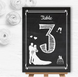 Chalkboard White Personalised Wedding Table Number Name Cards