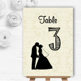 Traditional Chic Personalised Wedding Table Number Name Cards