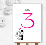 Bride And Groom Personalised Wedding Table Number Name Cards