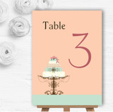 Classical Cake Personalised Wedding Table Number Name Cards