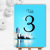 Miami Florida Personalised Wedding Table Number Name Cards