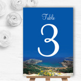Malta Abroad Personalised Wedding Table Number Name Cards