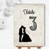 Damask Chic Personalised Wedding Table Number Name Cards