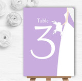 Lilac Bride Personalised Wedding Table Number Name Cards