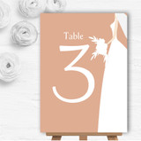 Peach Bride Personalised Wedding Table Number Name Cards