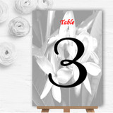 Grey Lily Personalised Wedding Table Number Name Cards