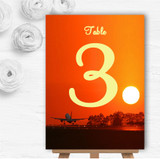 New York Personalised Wedding Table Number Name Cards