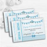 Vintage Rustic Style Bunting Powder Baby Blue Wedding Bar Free Drink Tokens
