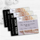 Lilac Rose Pearls Personalised Wedding Bar Free Drink Tokens