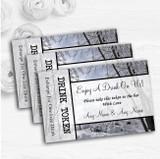 Winter Snow Scene Personalised Wedding Bar Free Drink Tokens