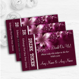 Beautiful Purple Personalised Wedding Bar Free Drink Tokens