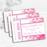 Pink Rose Petals Personalised Wedding Bar Free Drink Tokens