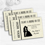 Traditional Chic Personalised Wedding Bar Free Drink Tokens