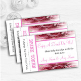 Baby Pink Roses Personalised Wedding Bar Free Drink Tokens