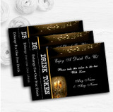 Black Champagne Personalised Wedding Bar Free Drink Tokens