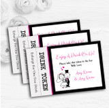 Bride And Groom Personalised Wedding Bar Free Drink Tokens