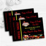 Las Vegas Strip Personalised Wedding Bar Free Drink Tokens