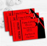 Red Black Bride Personalised Wedding Bar Free Drink Tokens